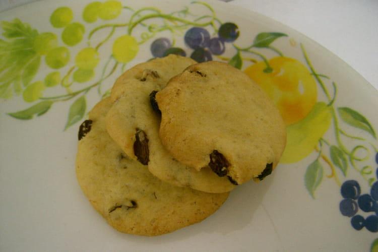 Cookies américains aux raisins