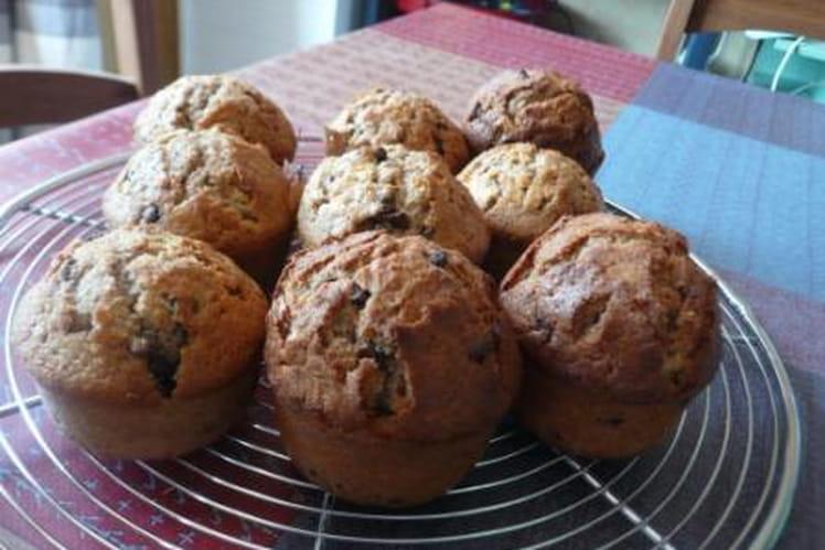 Muffins aux pépites de chocolat rapides