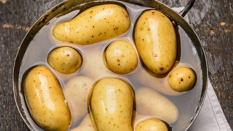 Comment cuire pommes de terre cinq minutes