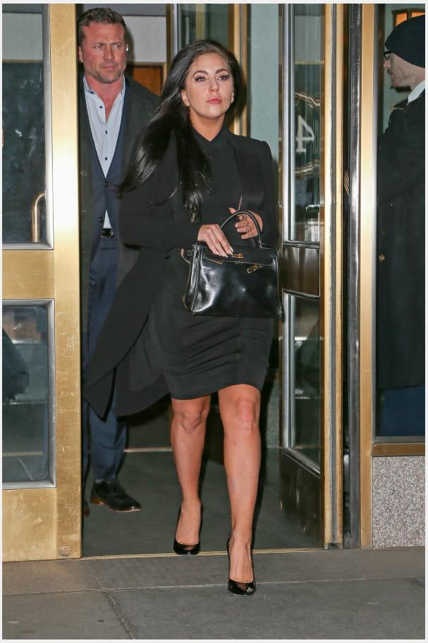 """Lady Gaga et son """"Kelly"""" Hermès"""