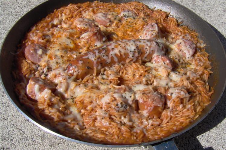 Risotto aux saucisses de porc