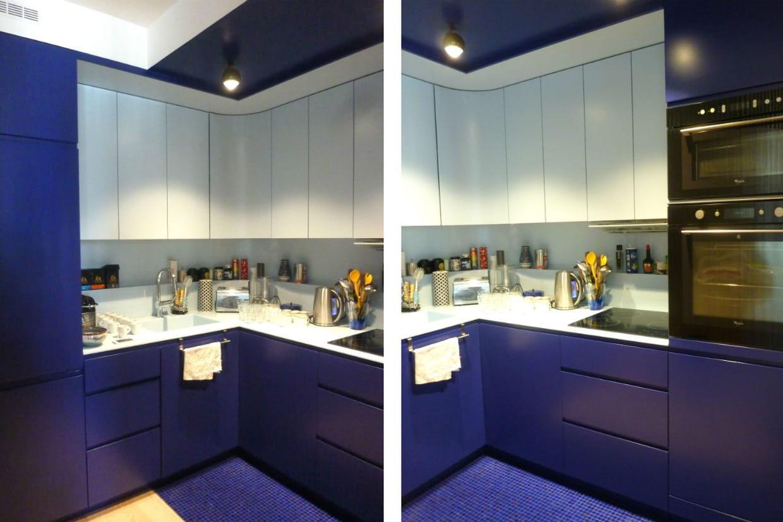 une cuisine discr te et optimis e. Black Bedroom Furniture Sets. Home Design Ideas