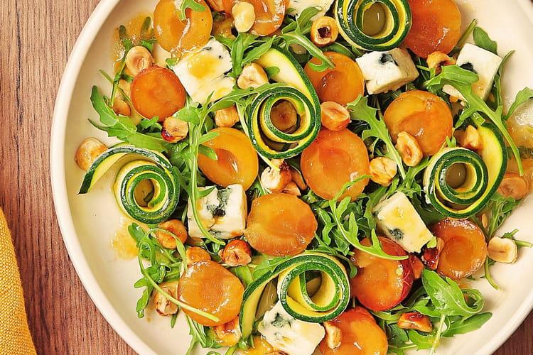 Salade de Mirabelles de Lorraine, courgettes crues marinées au pamplemousse
