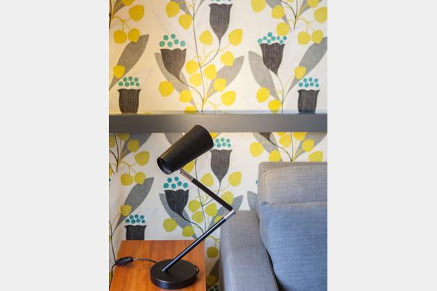 Papier peint jaune tulipe