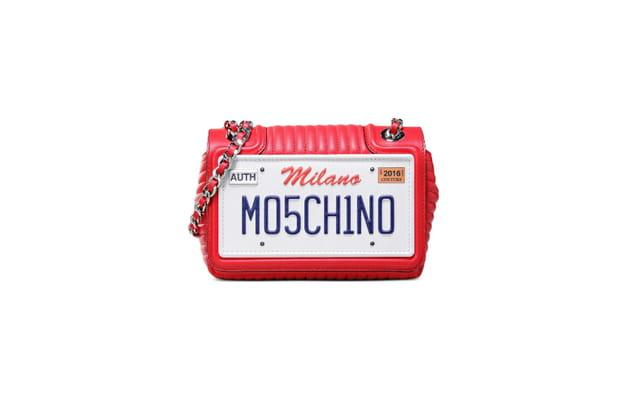 Sac plaque d'immatriculation de Moschino