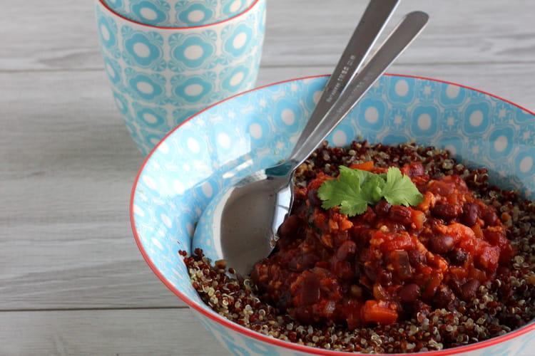 Quinoa et Azukis façon Chili Sin Carne