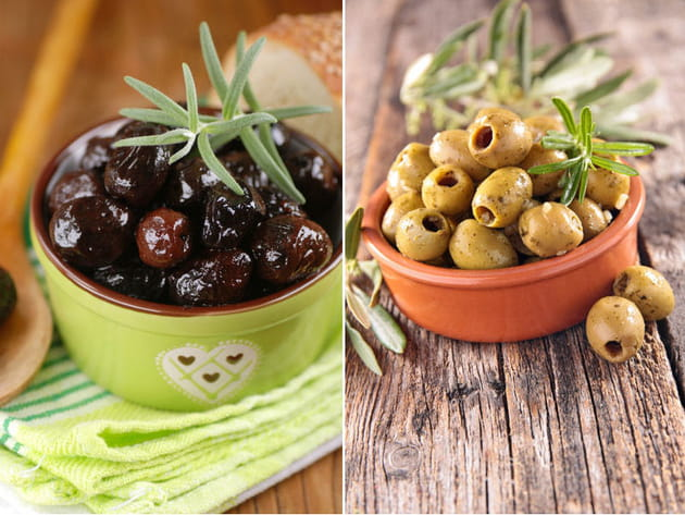 Olive noire ou olive verte ?
