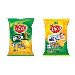 de gauche à droite : chips saveurs salsa de janeiro et grill de rio