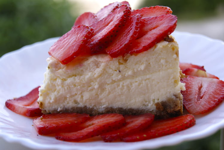 Cheesecake aux fraises, fromage blanc et mascarpone