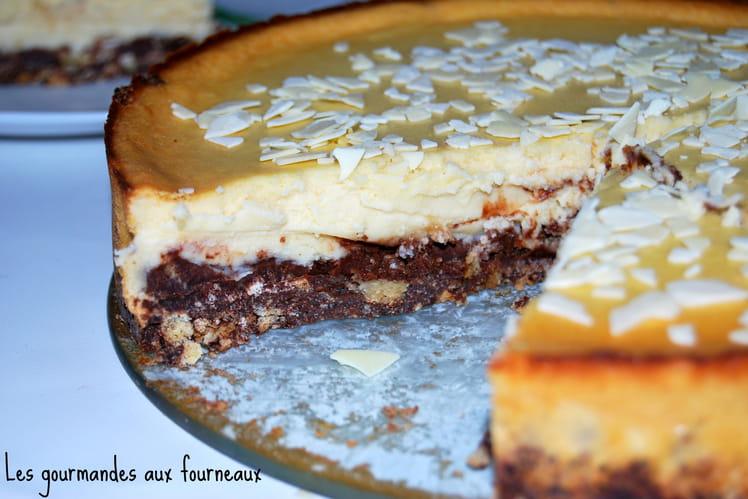 Cheesecake aux deux chocolats (blanc et noir)