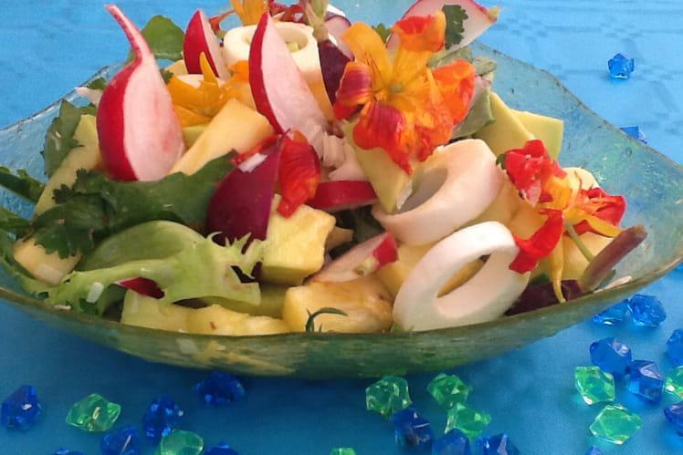 Salade de radis exotique