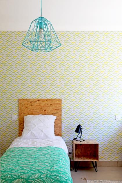 Chambre bleu et vert