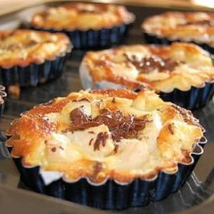 tartelettes faciles aux poires et au chocolat