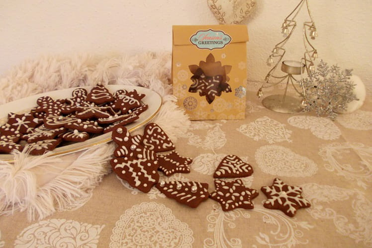 Biscuits de Noël à la cannelle et au chocolat