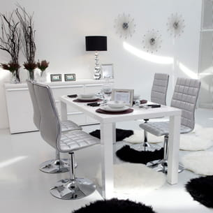 chaise anvers silver de conforama
