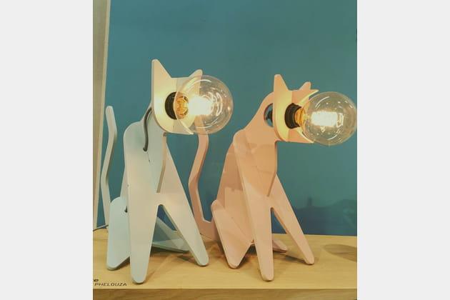 Lampe à poser Chat par Eno Studio