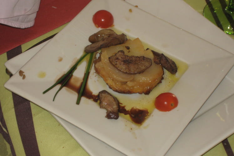 Escalopes de foie de canard et tatins de navets