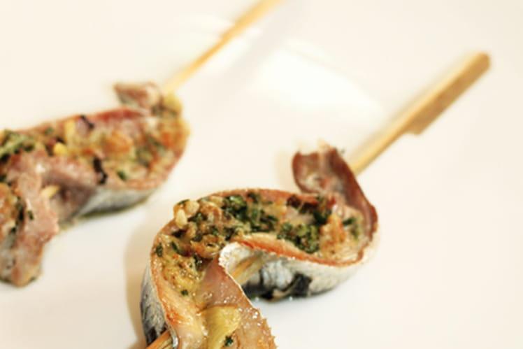 Brochettes de sardines au curry