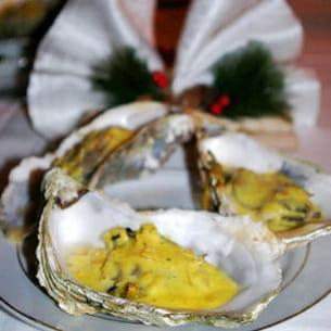 huîtres chaudes au champagne