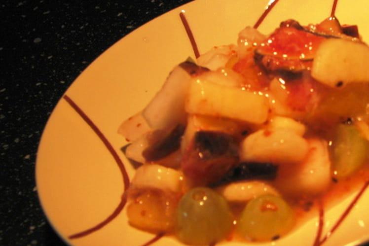 Salade de fruits d'hiver marinés