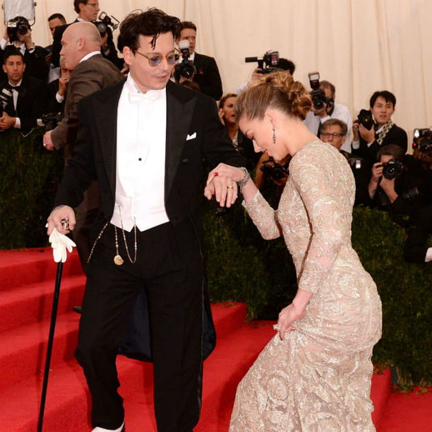 Johnny Depp et Amber Heard Met Ball 2014