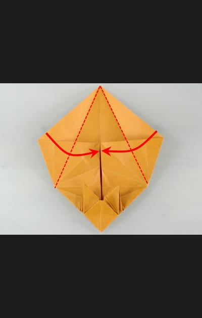 Origami chat - Etape 18