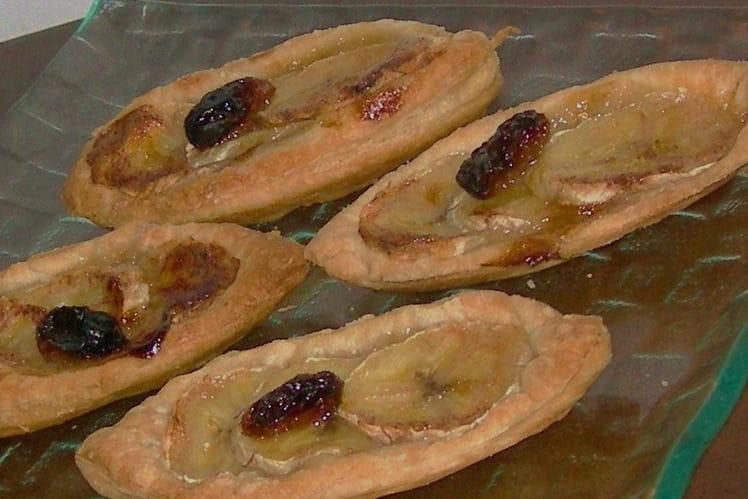 Tartelettes à la banane, rhum et raisins secs blonds