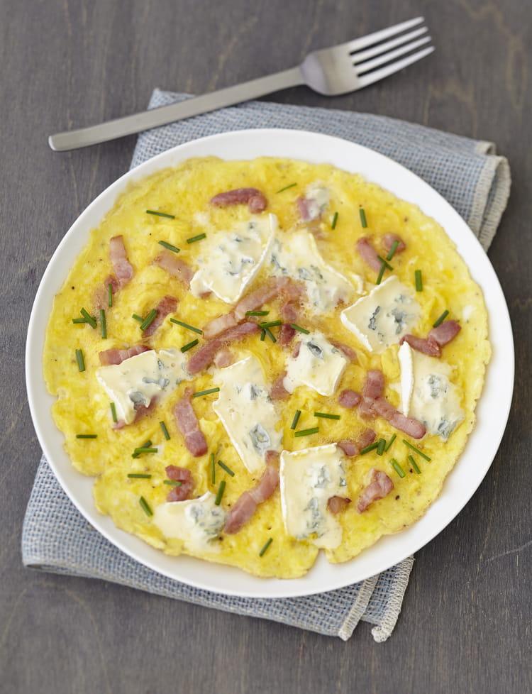 Recette omelette lardons ciboulette au bresse bleu la recette facile - Comment cuisiner une andouillette ...