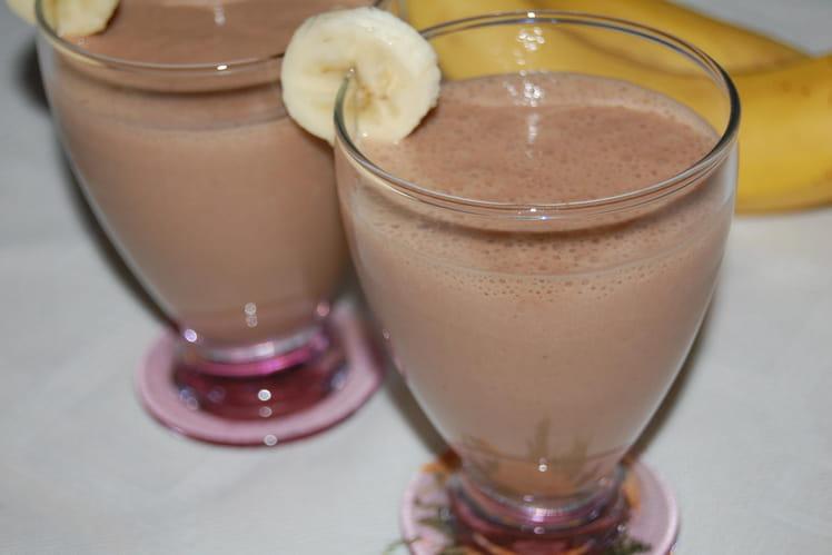 Smoothie banane-Nutella-amande