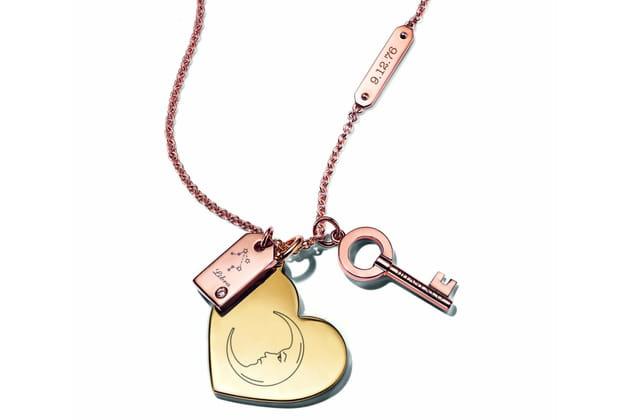 """Charms """"Plaque"""", """"Coeur"""" et """"Modern Keys"""" de Tiffany & Co."""