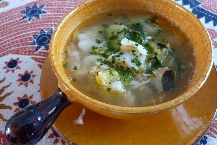 Soupe marine aux courgettes