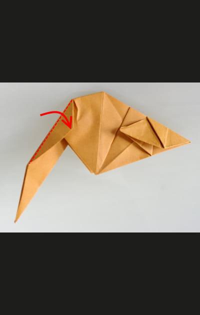 Origami chat - Etape 24