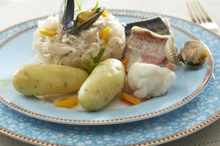 Choucroute de la mer aux pommes de terre
