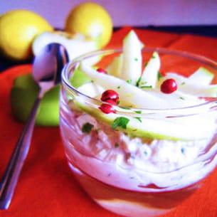 verrines au thon et mikado de pomme verte