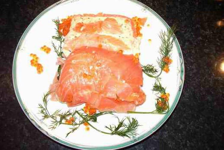Terrine aux deux saumons au yaourt