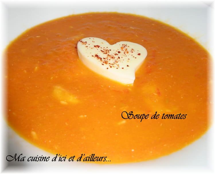 recette soupe de tomates potage soupe. Black Bedroom Furniture Sets. Home Design Ideas