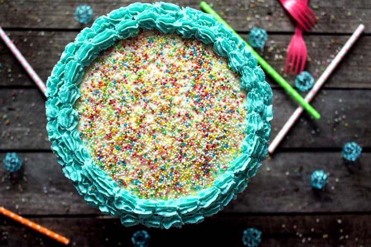 Rainbow Cake d'anniversaire