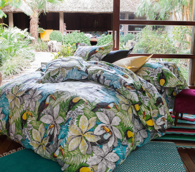 du linge de lit imprim jungle. Black Bedroom Furniture Sets. Home Design Ideas