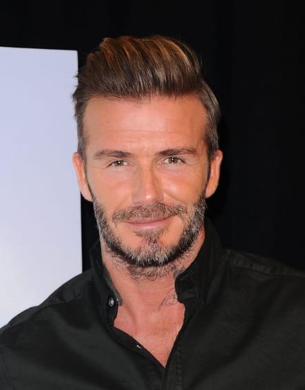 David Beckham avec une barbe