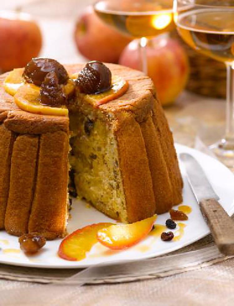 recette de charlotte aux pommes ch taignes et fruits secs la recette facile. Black Bedroom Furniture Sets. Home Design Ideas