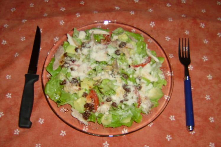 Salade de poulet au citron et parmesan