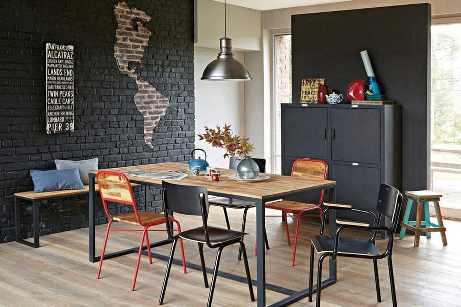 d co industrielle les codes du style factory. Black Bedroom Furniture Sets. Home Design Ideas