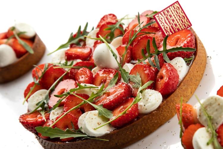 Tarte fraises tomates mozzarella François Daubinet