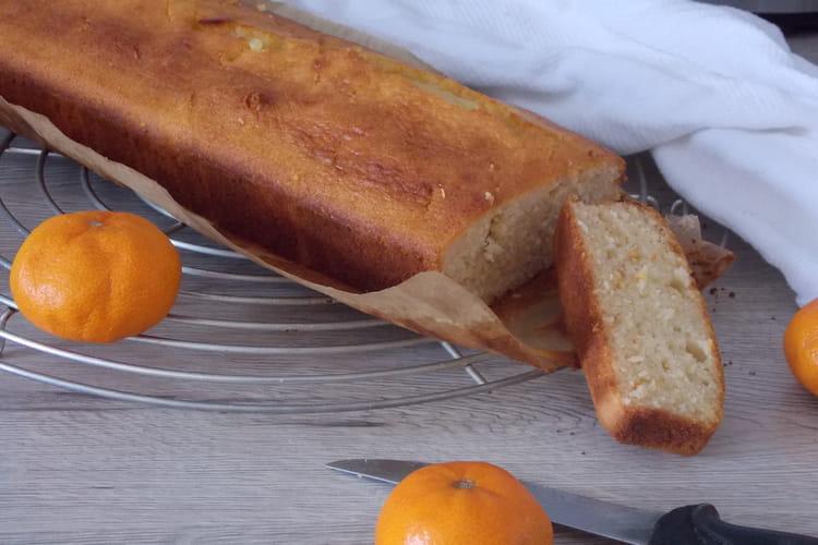 Cake à l'orange, façon pound cake ( sans sucre et sans beurre )