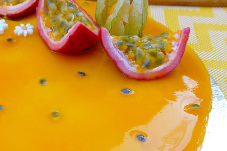 Cheesecake aux fruits de la passion sans cuisson vegan