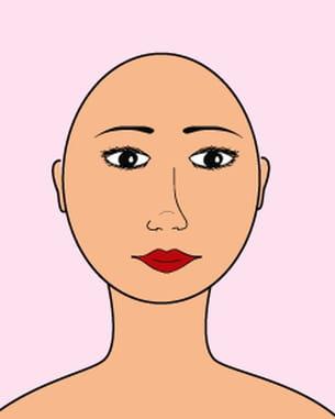 Coiffure : le visage rond