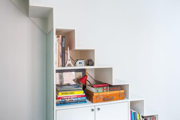 rangements sous escalier. Black Bedroom Furniture Sets. Home Design Ideas