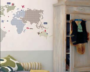 sticker 'world map' de nanelle créations