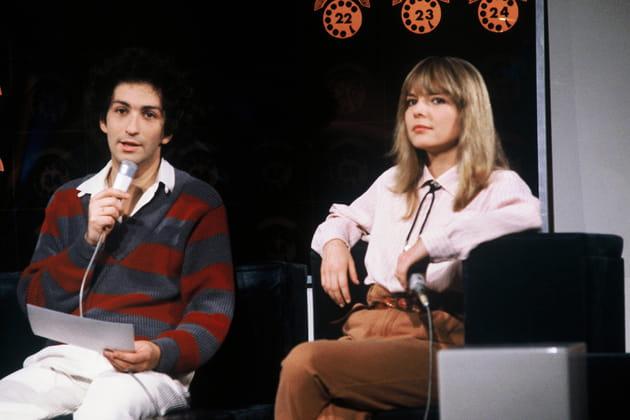 France Gall et Michel Berger, sur un plateau de télévision