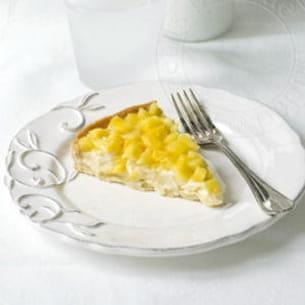 tarte ananas sur crème chocolat blanc coco passion